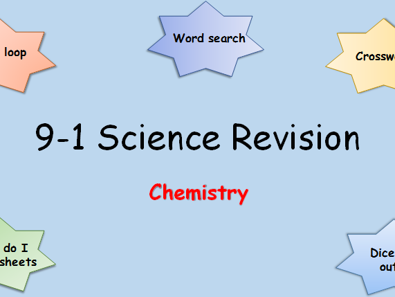 9-1 Science Edexcel Combined Chemistry Revision Pack