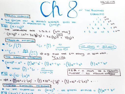 Pure Maths - Edexcel, Year 12 PART 2