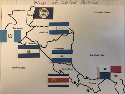 Flags of Central America - Interactive Notebook Activity
