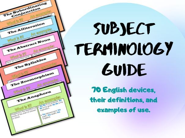 Subject Terminology Guide