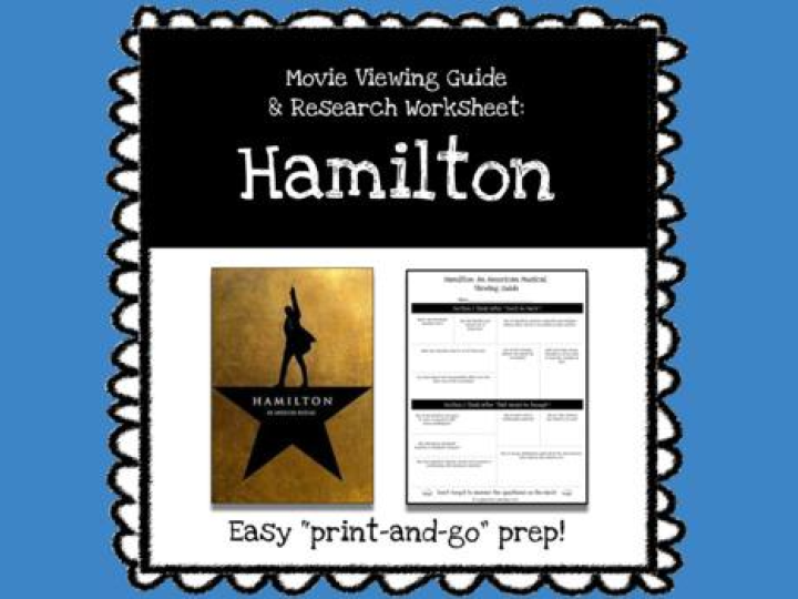 Hamilton Movie Viewing Guide & Research Worksheet *Print & Go Prep*