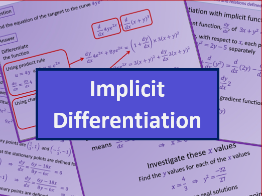 Implicit differentiation - A level A2 Mathematics