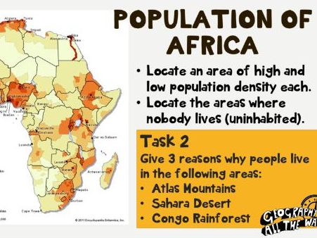 Africa- physical geography and impact on population distribution
