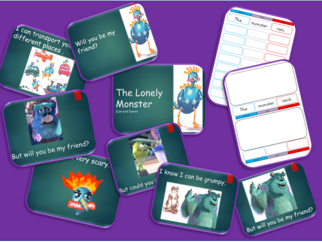 The Lonely Monster with an introduction to Colourful Speech.