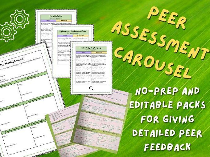 Peer Assessment Carousel | Essays and Extended Writing | KS3 and KS4