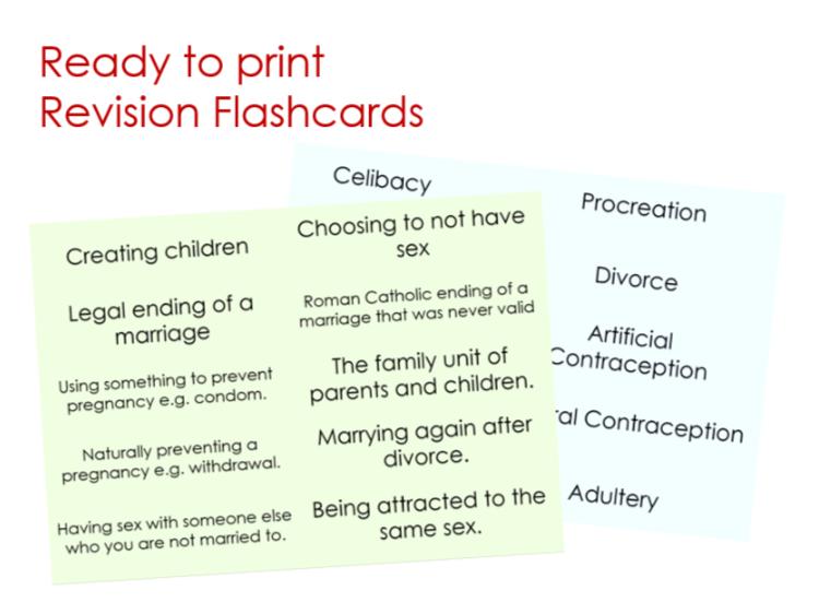 AQA GCSE RS Theme A Flashcards Set