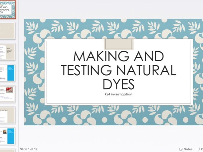 Making natural dyes remote learning investigation