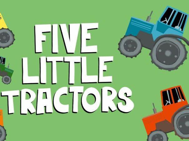 Music Video for preschool children - 'Five Little tractors'