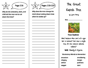 Great Kapok Tree Sequencing Freebie by Laura Ado | TpT