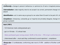 Social Influence Notes
