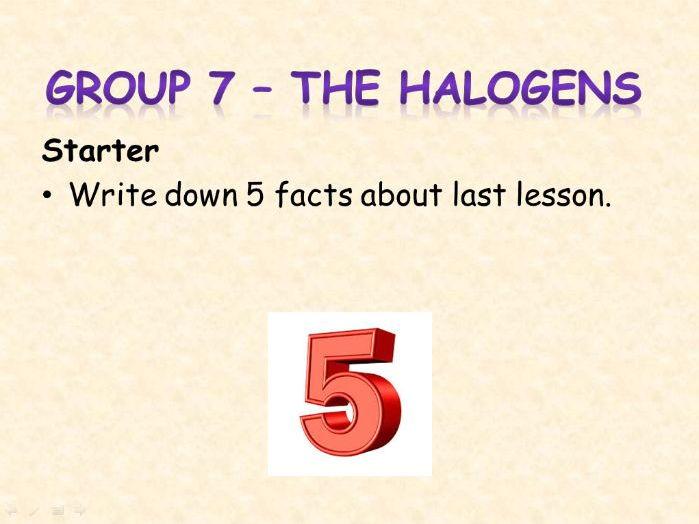 AQA Chemistry Topic 2: The Halogens