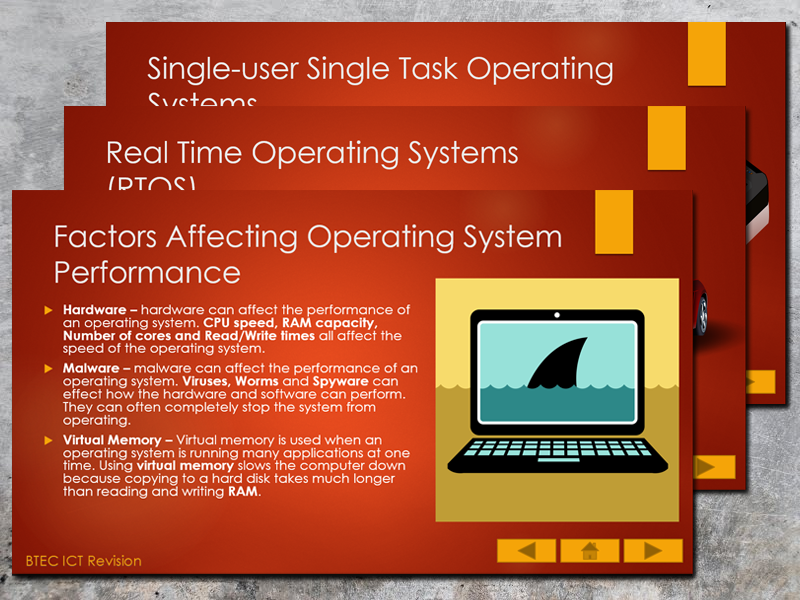BTEC ICT (2016) UNIT 1 Information Technology Systems Revision Presentation (Operating Systems)
