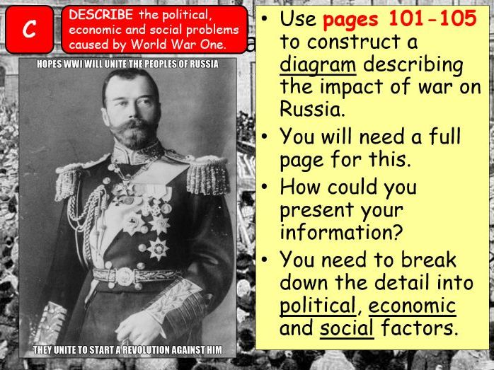 AQA A-Level Tsarist & Communist Russia Lesson 40 (February Revolution 1)