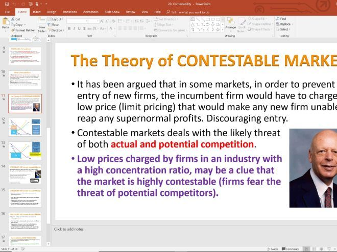 20. Contestability (Slides, Activities and Notes) - Edexcel A-Level Economics - Theme 3