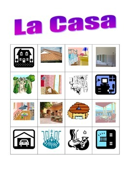 Casa (House in Italian) Bingo game