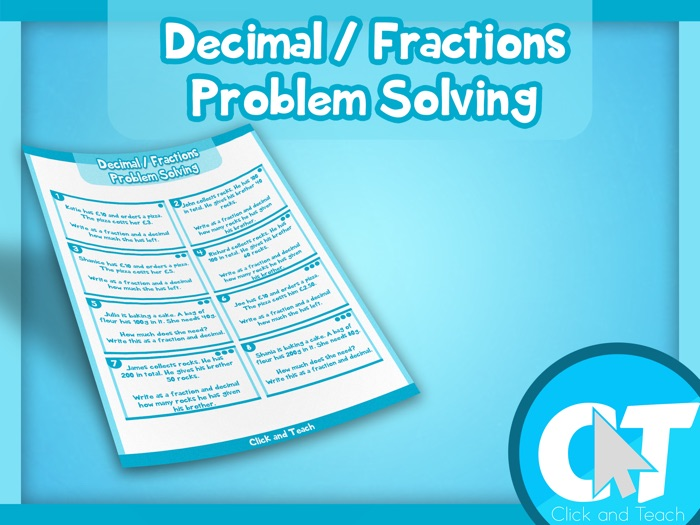 KS2 - Converting Fractions to Decimals Problem Solving