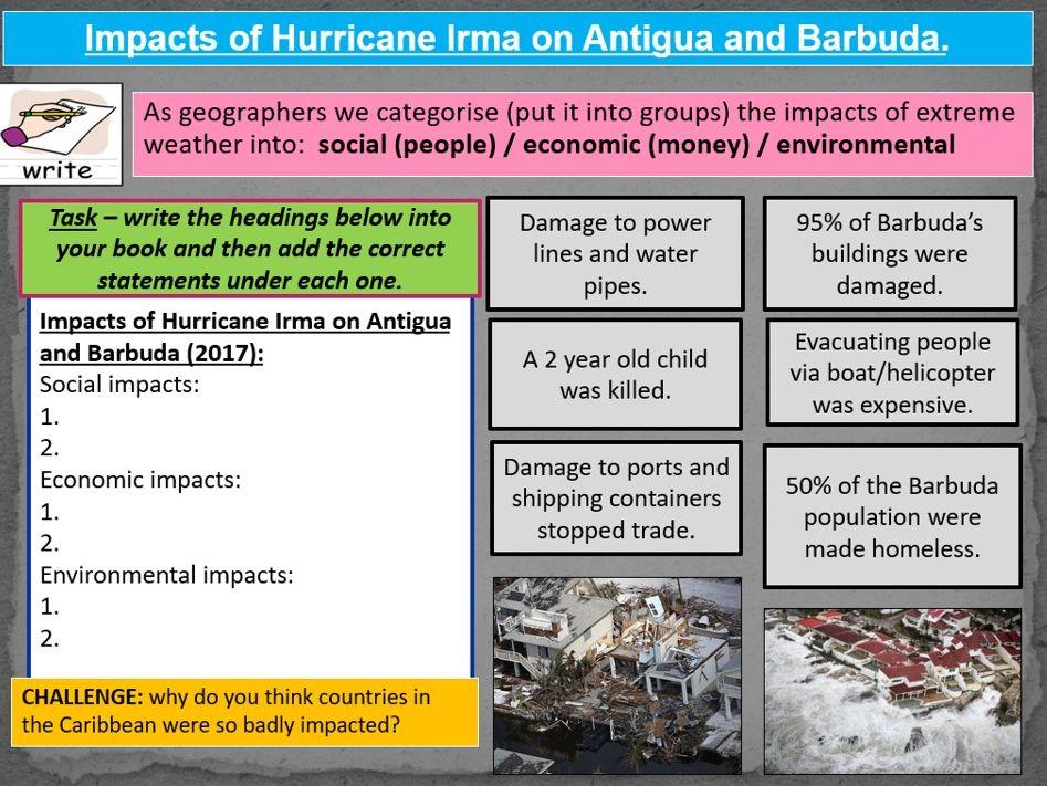 Hurricane Irma - Causes and Impacts KS3