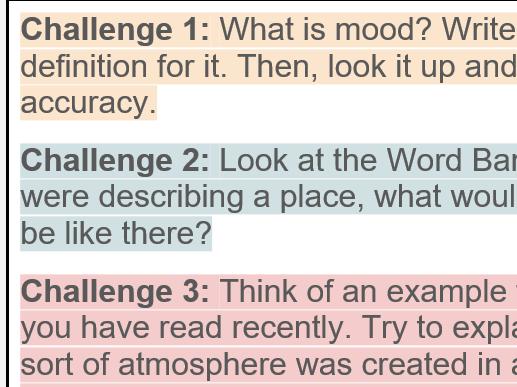 KS3 To Kill A Mockingbird: Exploring Mood