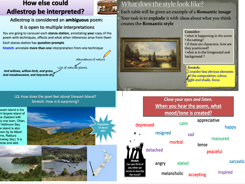 Edexcel GCSE English Literature Poetry: Time and Place Unit of lessons for all 15 poems