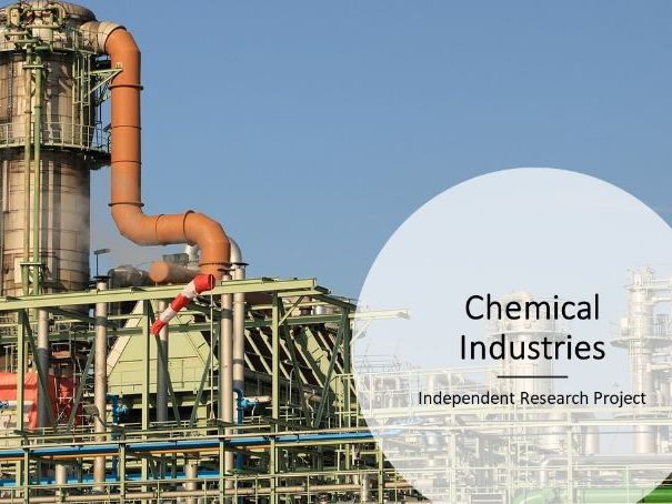 Independent research project - chemical industrial processes - differentiation tool - revised