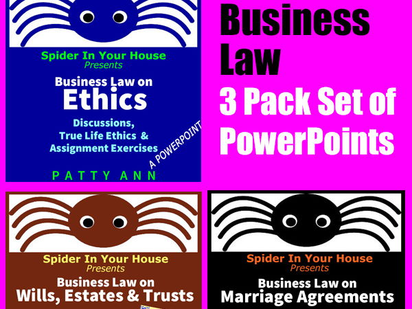 ETHICS CIVICS Business Law PowerPoint 3-Pack $AVING *Activities *Discussions *Exercises
