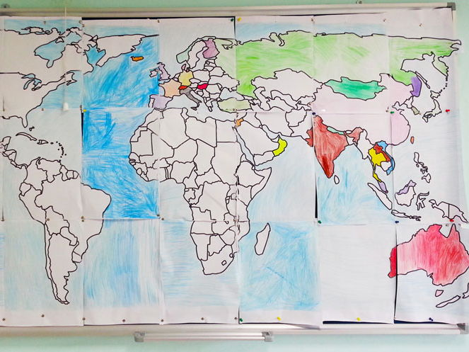 Huge World Map Poster (200x103cm) by travis82 - Teaching Resources - Tes