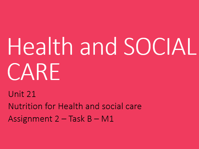 unit 2 health and social care Concepts of diversity concepts of equality,diversity and rights in relation to health and social care equality - treating people in a.