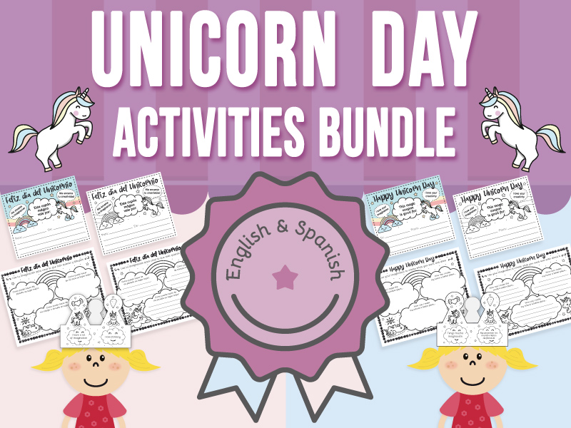 Unicorn Day Activities - BUNDLE