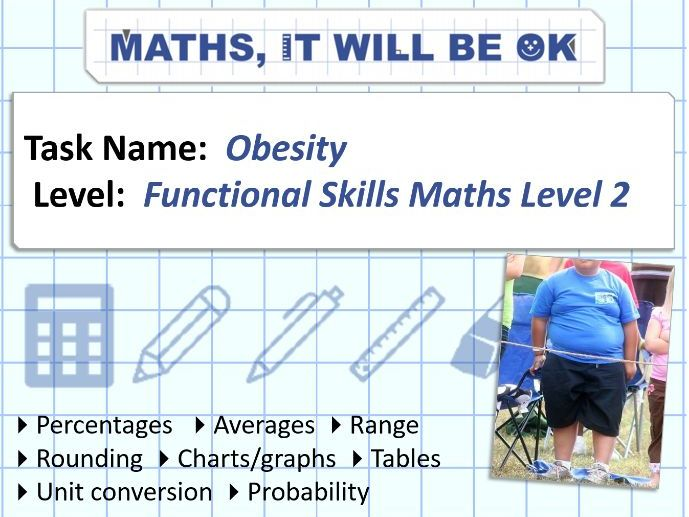 FS Maths Level 2 -Scale - Obesity - Exam Style