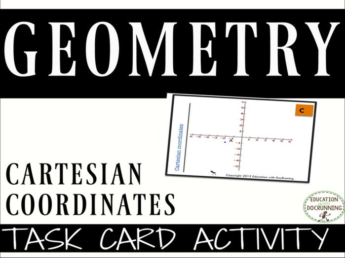 Cartesian Coordinates Task Cards for Activities and Centers