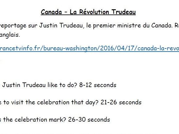 Canada - La Révolution Trudeau (diversité)