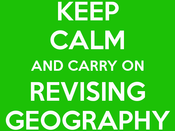 Geography A Level revision bundle