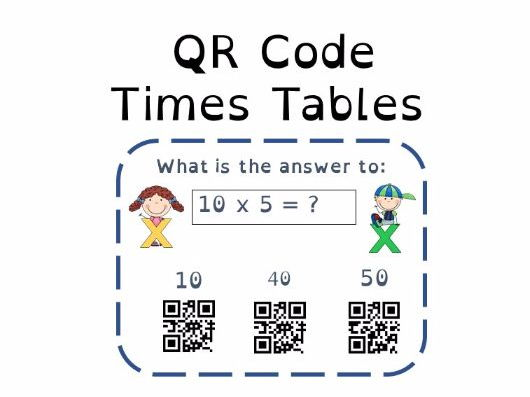 Multiplication 5X Tables QR Code
