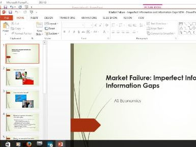 Economics - Marker Failure, imperfect info and gaps