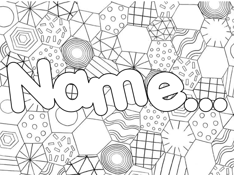 Personalised Mindfulness Colouring Lunchtime Placemats