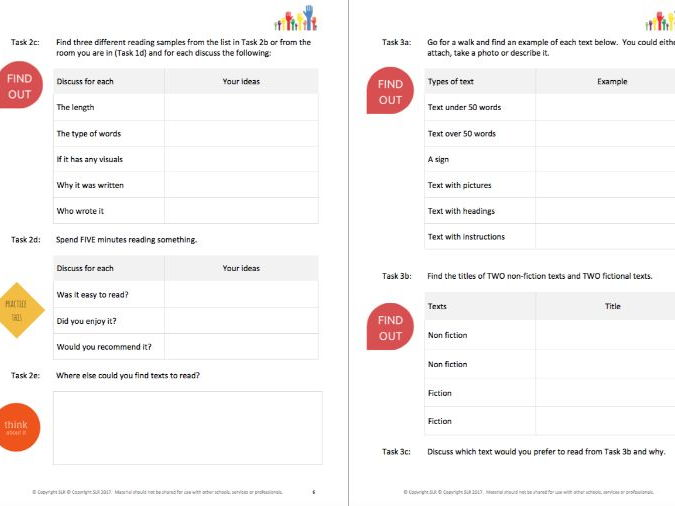 LITERACY SKILLS (1)  - READING TO UNDERSTAND workbooklet