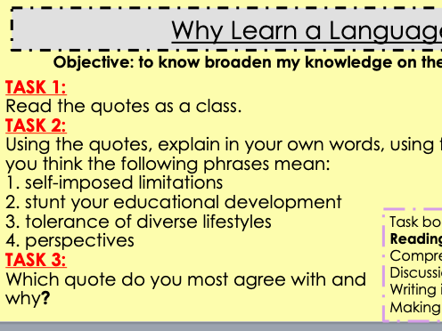 Why learn a language?