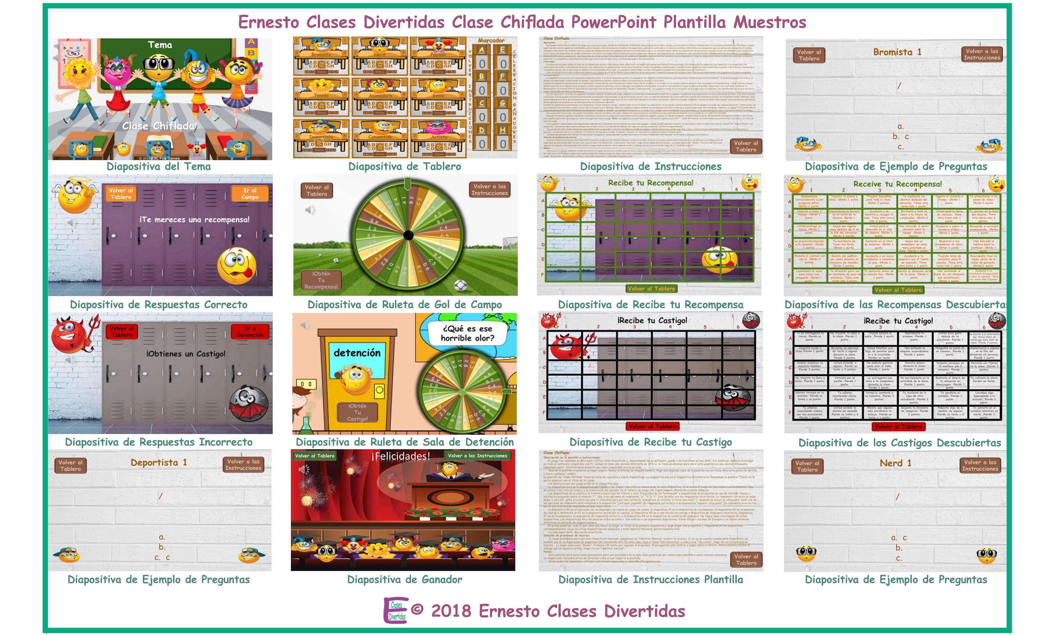 Kooky Class Spanish Powerpoint Game Template An Original By Ernesto
