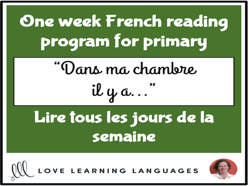 Lire tous les jours de la semaine #3 - French primary reading program