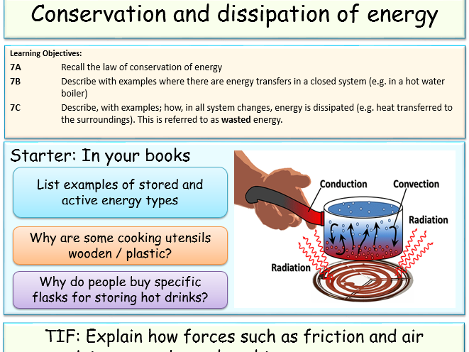 The Law Of Conservation Of Energy A Physics Powerpoint Lesson