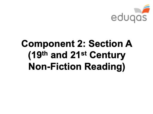 c19/21 NF Reading - GCSE Eduqas - KS4