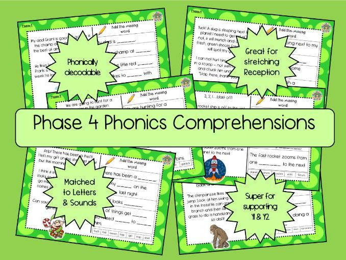 Phase 4 Phonics Comprehensions - UPDATED AGAIN
