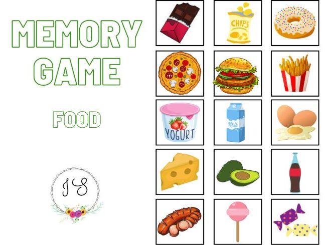Memory game - Food (card game)