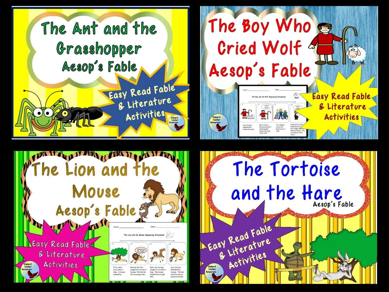 Aesop's Fables Bundle Reading Comprehension and Literature Activities