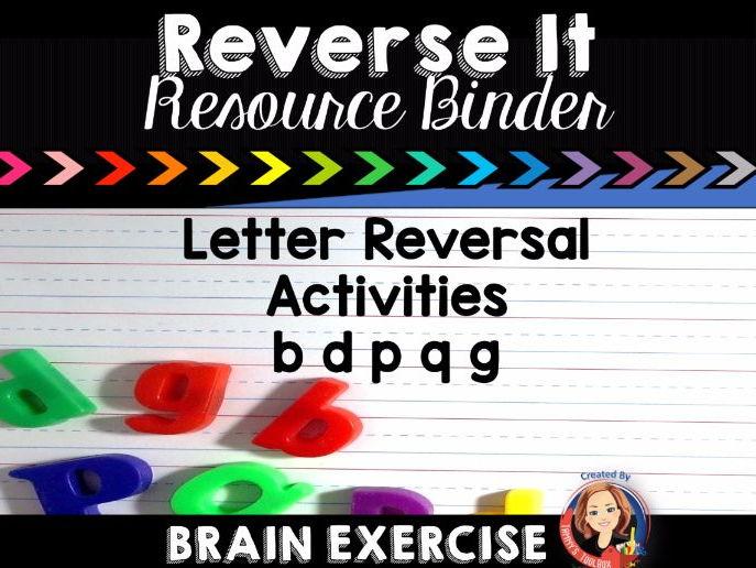 Letter Reversal Activities for b, d, p, q, g