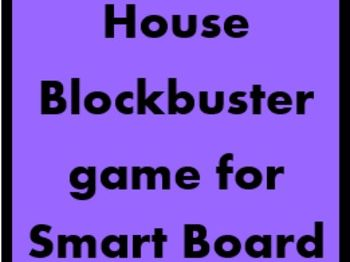 House Blockbuster game for Smartboard