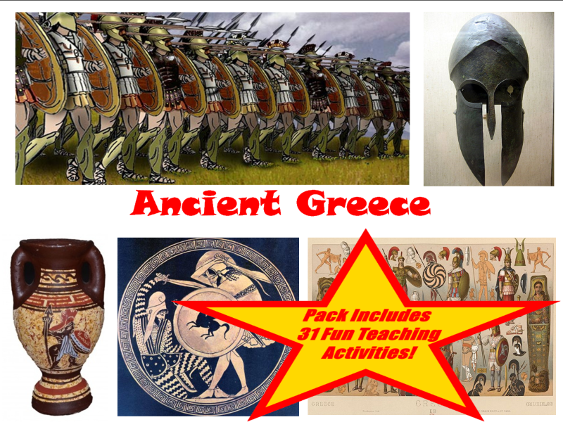 30 Ancient Greece Photos And Drawings + 31 Teaching Activity Teacher Guide To Use In The Classroom