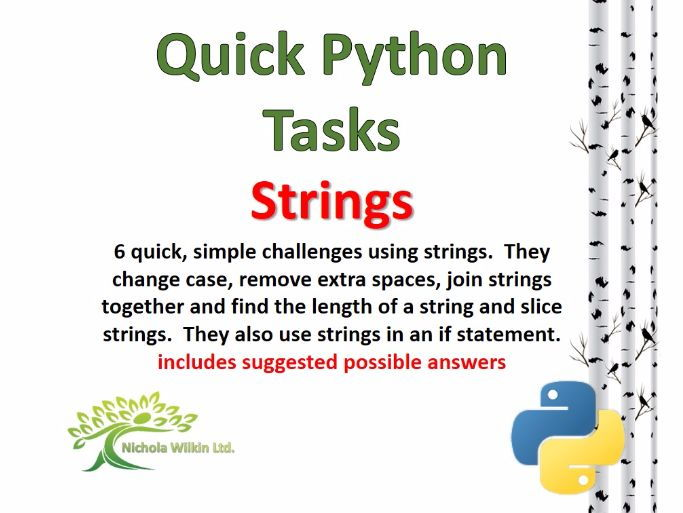 Strings (Quick Python Programming Challenges)