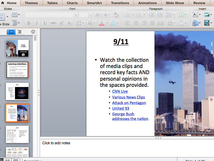 Global Terrorism (PowerPoint to accompany pupil workbook)