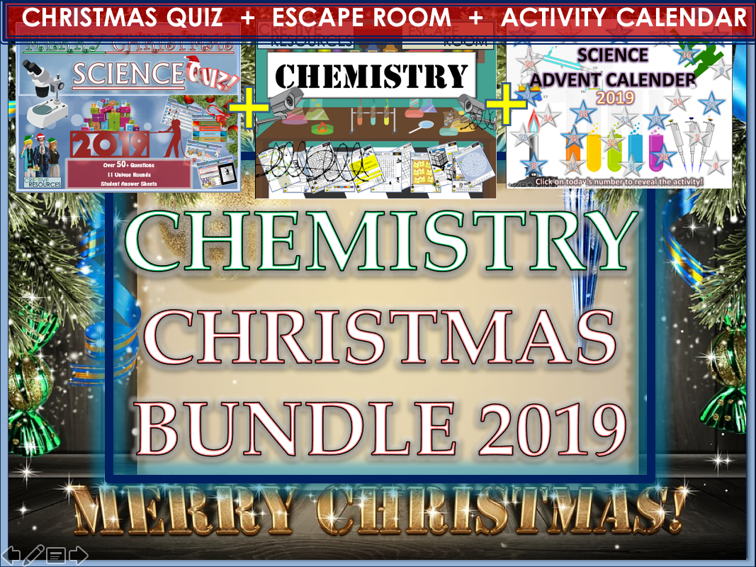 Chemistry Christmas 2019 Bundle - Science Quiz